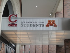 09-7-30 TCF Bank Stadium University of Minnesota Student Entrance