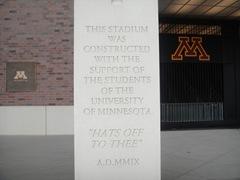 09-7-30 TCF Bank Stadium University of Minnesota Student Entrance 2