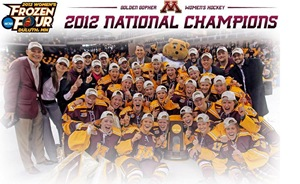 Minnesota Golden Gophers Womens Hockey 2012 National Champions