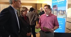 Minnesota IT Jobs, HomeSpotter CEO Aaron Kardell with Steve Case and Senator Klobuchar