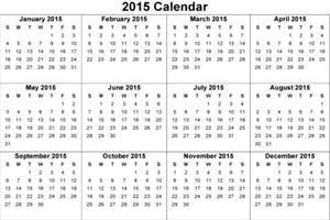 Calendar 2015 2