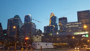 Street view Friday night in Minneapolis