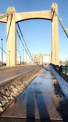 Downtown Minneapolis, January Thaw, Hennepin Avenue Bridge