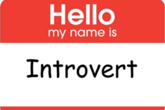 Introvert Name Tag