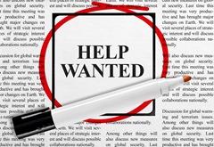 Help Wanted, We're Hiring